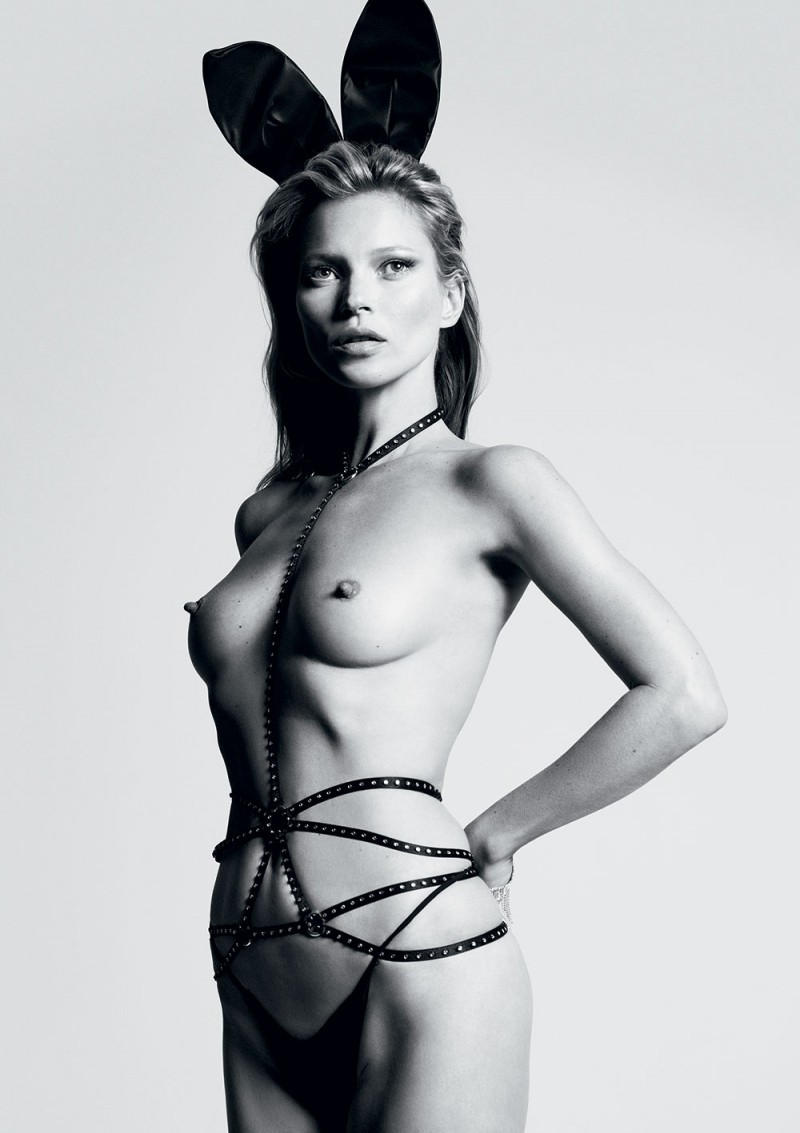 Kate Moss Nude Photo Shoot, Bunny Ears