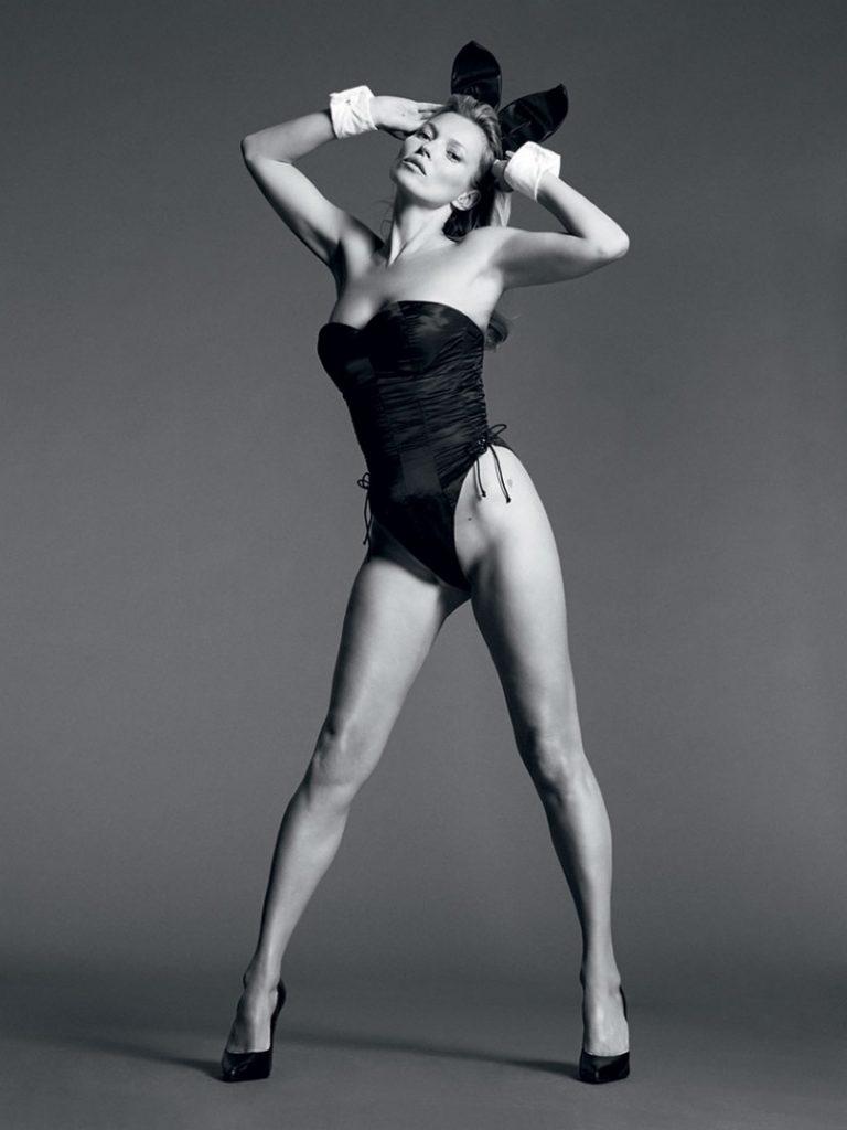 Kate Moss Nude Photo Shoot, Bunny Ears