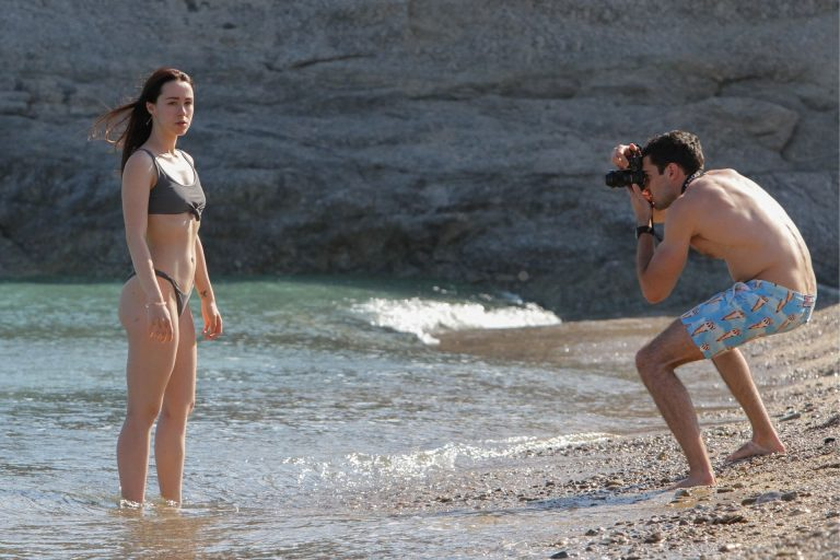 Aurora Ramazzotti Pictures On The Beach