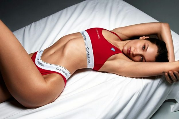 Bella Hadid Sexy Picture, Red Underwear