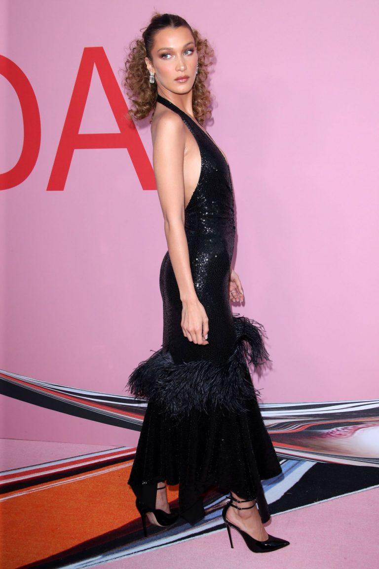 Bella Hadid Sexy Pictures, Black Dress