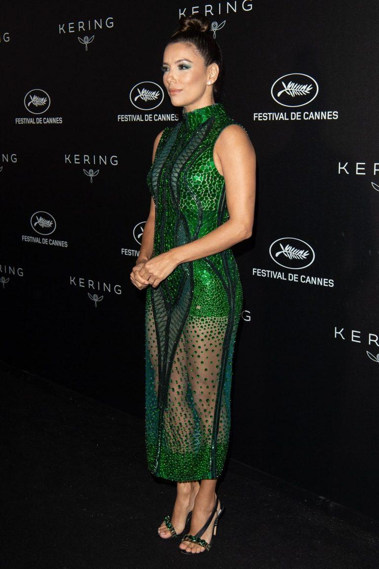 Eva Longoria Sexy Green Dress