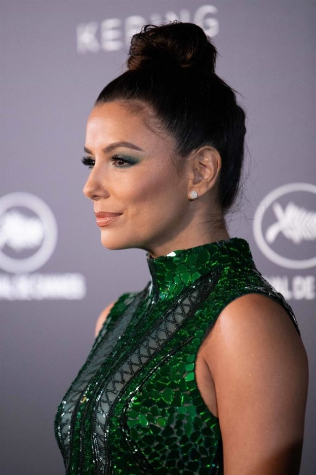 Eva Longoria Sexy Green Dress