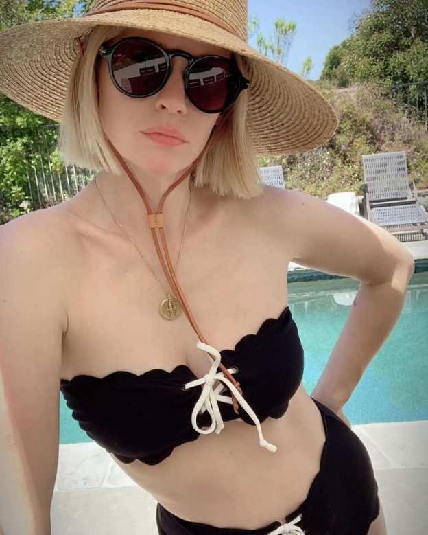 January Jones Sexy Photo By The Pool