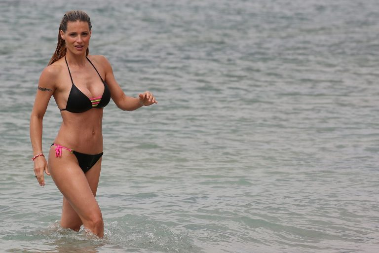 Michelle Hunziker Sexy Cleavage and Body