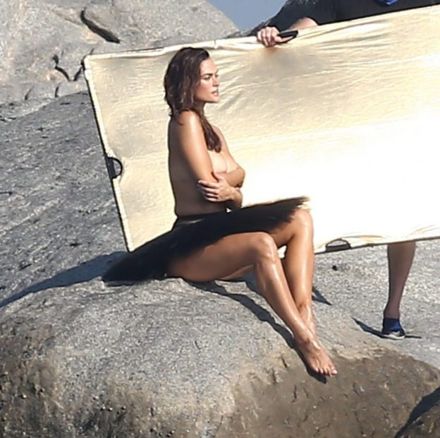 Myla Dalbesio Topless Photoshoot, Long Legs