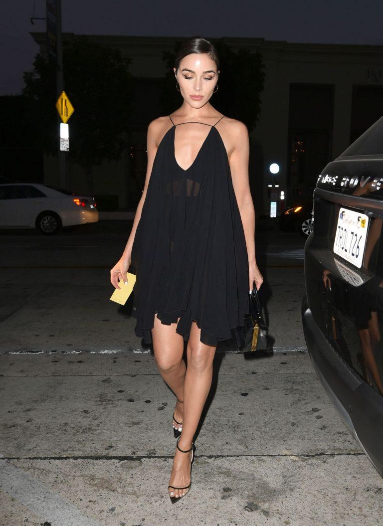 Olivia Culpo Shows Off Her Legs