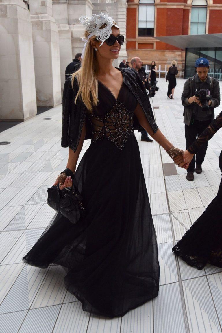 Paris Hilton See Through Black Dress