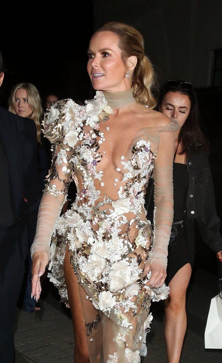 Amanda Holden Seethrough Dress Pictures