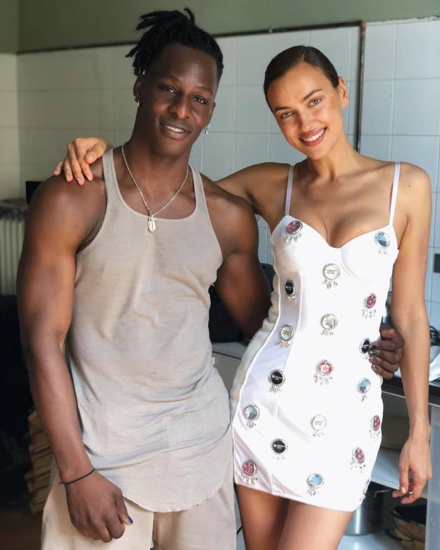 Irina Shayk Sexy Photo WIth Edem Dossou