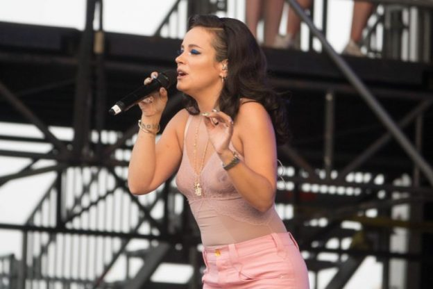 Lily Allen Wearing a Seethrough Shirt