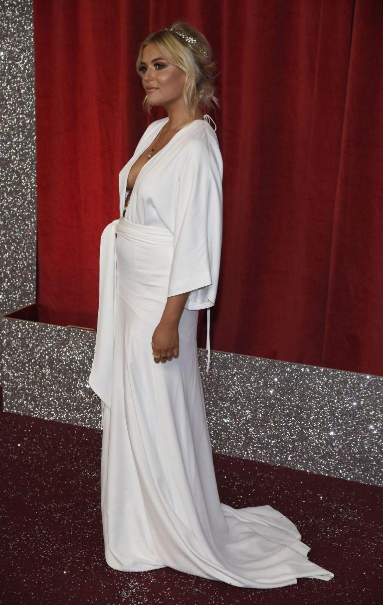 Lucy Fallon Hot Pics In White Dress