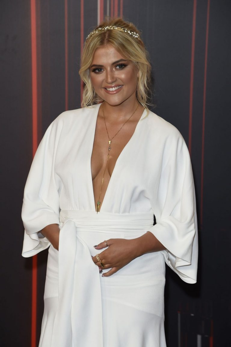 Lucy Fallon Hot Pics In White Dress