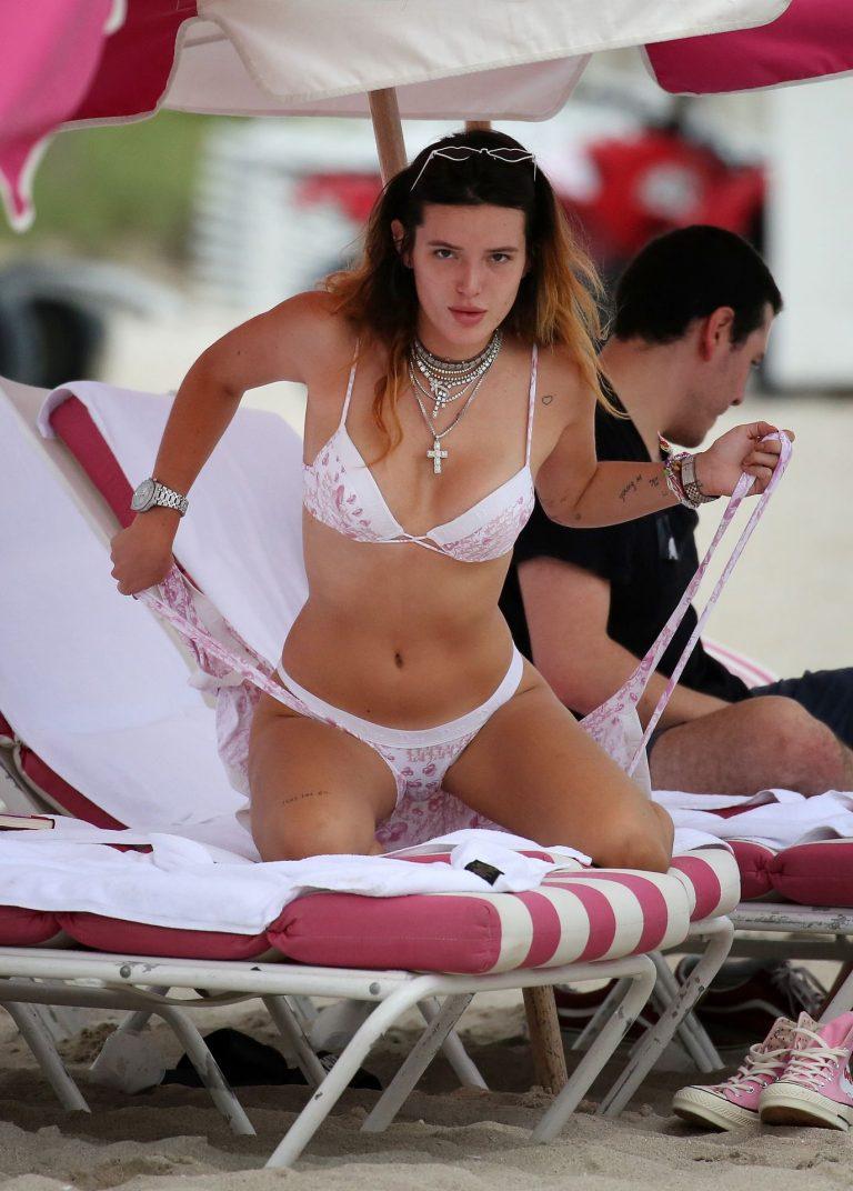 Bella Thorne Areola Peeks, Sexy Bikini Photos