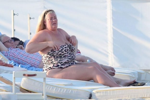 Gemma Collins Hot BBW Beach Photos, Big Tits
