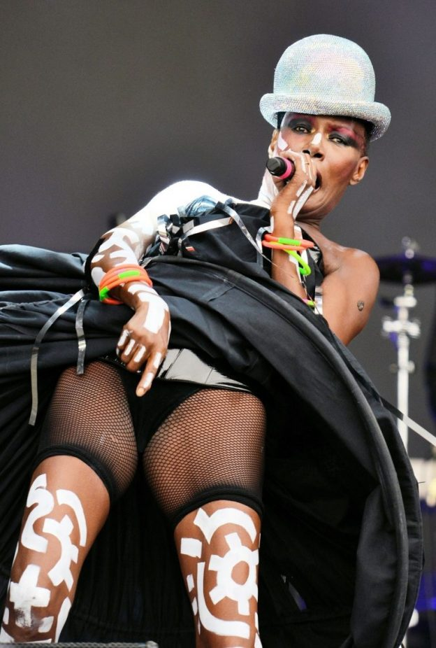 Grace Jones Hot Performance Photos, Long Legs