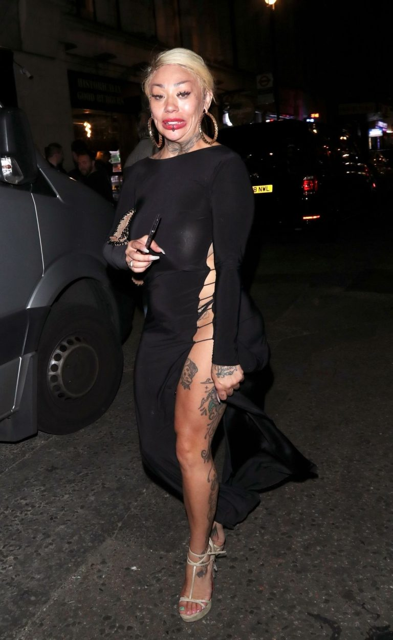 Mutya Buena See Through Dress, Thick Body