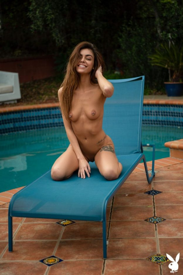 Olia Adams Nude Photoshoot, Pierced Nipples