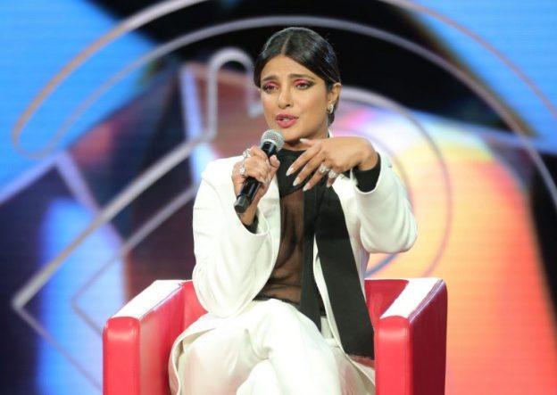 Priyanka Chopra Braless Pictures, White Suit