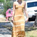 Sara Sampaio Braless Photos, Yellow Dress