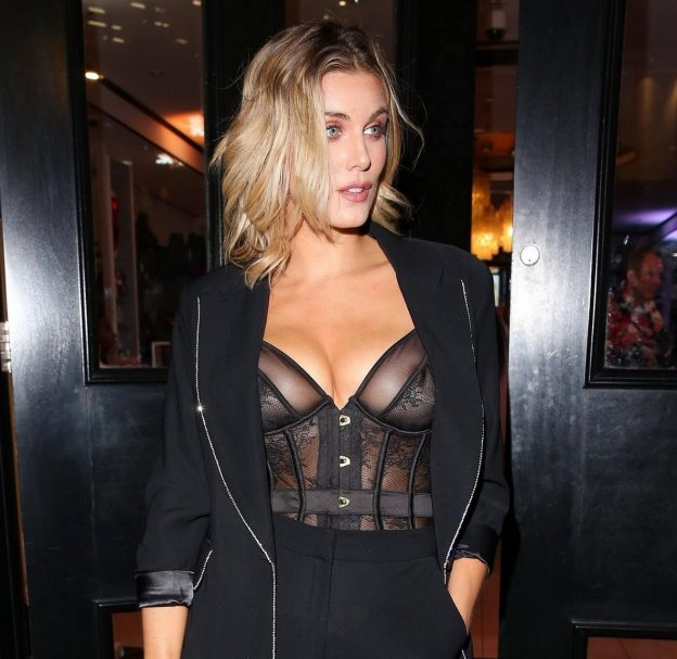Ashley James Wearing A See Through Outfit