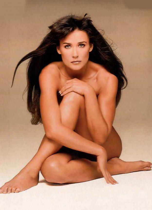 Demi Moore Vintage Nude Pictures, Natural Tits