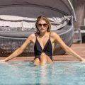 Rachel McCord Leaked Pool Photos, Long Legs