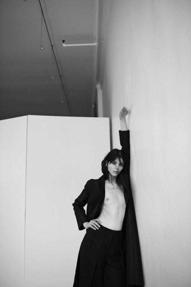 Kate Bogucharskaia Black and White Topless Photos