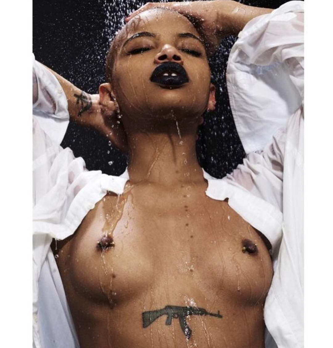 Slick Woods Leaked Nude Picutres, Tattooed Body