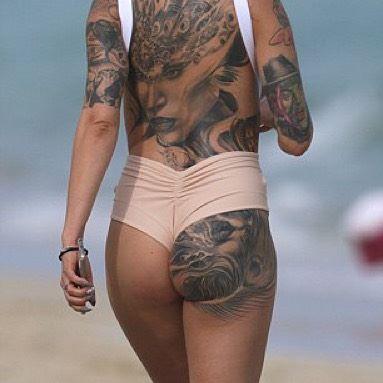 Cami Li Sexy Beach Pictures, Tattoos
