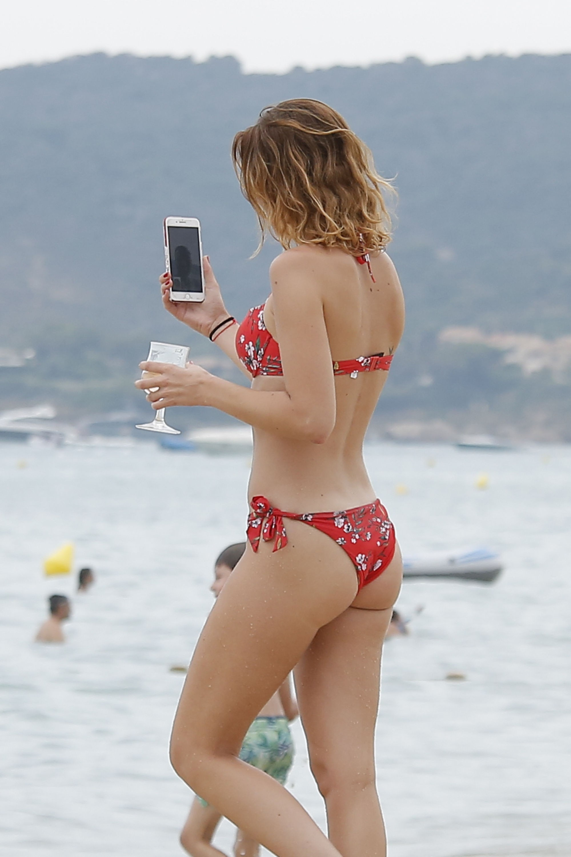 Barbara Opsomer Beach Bikini Photos