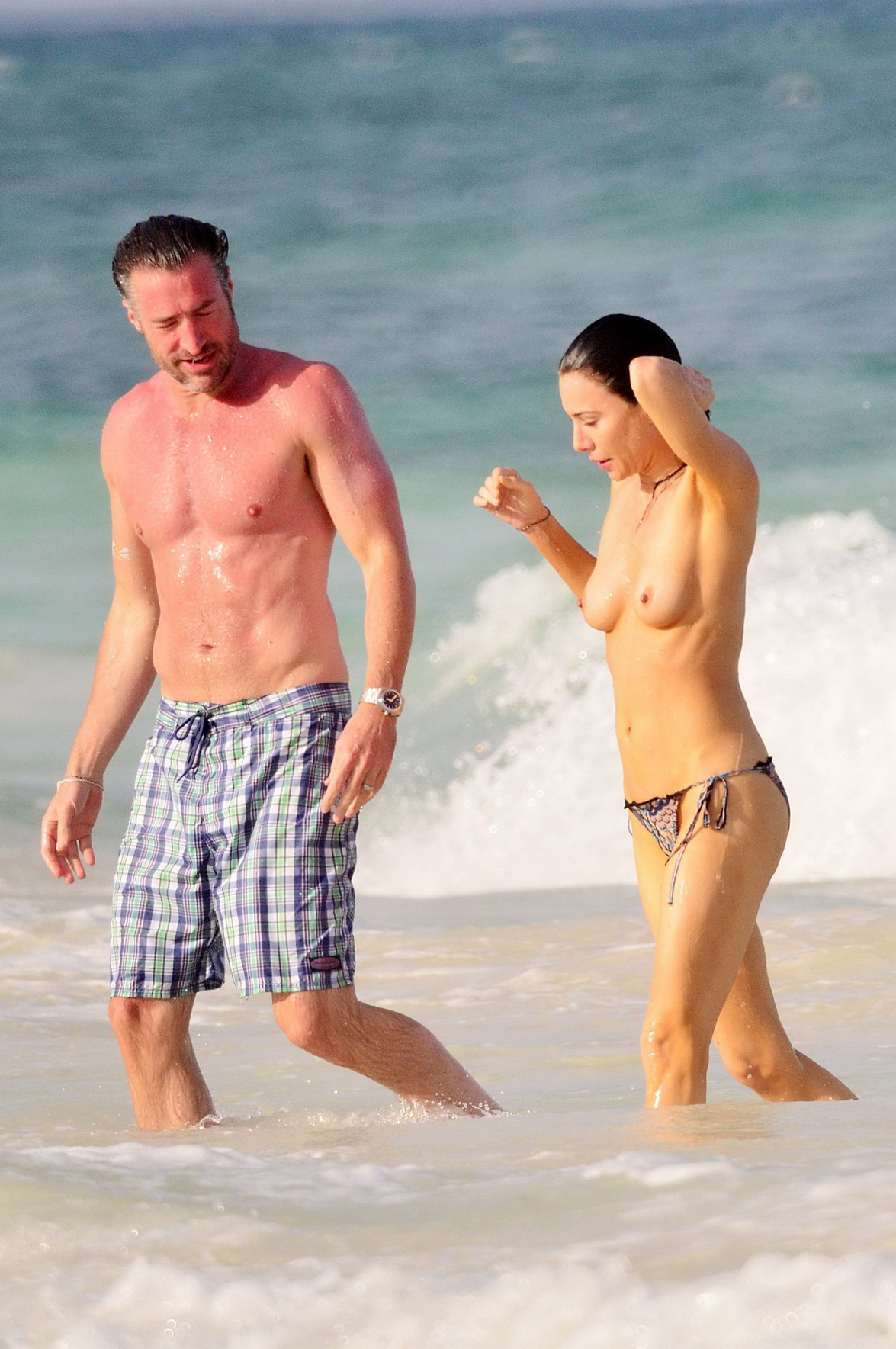 Jaime Murray Topless Collection of Pics