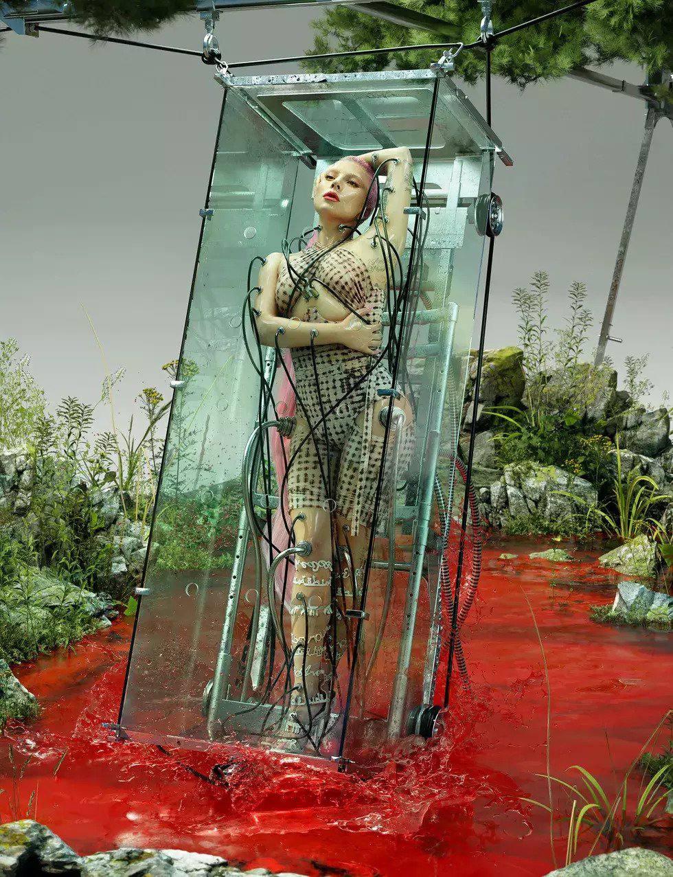 Lady Gaga Naked, Robotic Photos